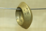 Large Solid Brass Antique Hair Ring from Ethiopia