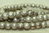 Ethiopian Silver Color Rounds, New Strand
