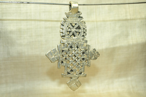 New Silver Color Ethiopian Coptic Cross