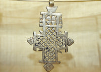New Large Silver Color Ethiopian Coptic Cross