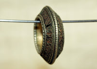 Old, Heavy Coin Silver Hair Ring from Ethiopia
