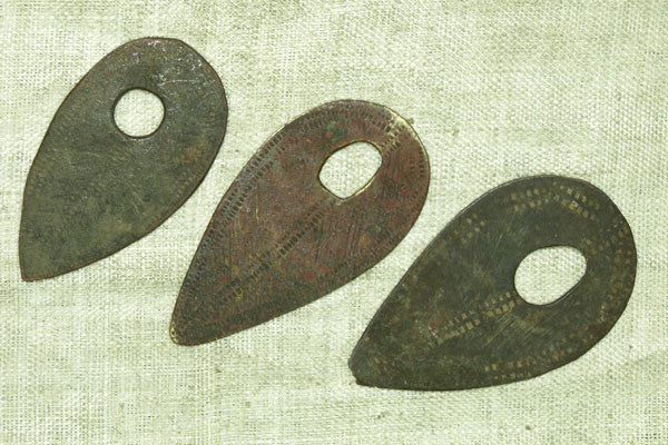 Small Bronze Shield Pendant from Ethiopia