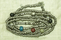 Old Ethiopian Silver Heishi and Glass Beads