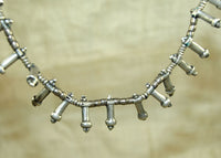 Antique Ethiopian Silver Heishi Necklace with Many Penis Pendants