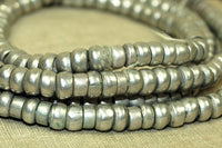 Old Ethiopian Silver Beads 4mm x 3mm