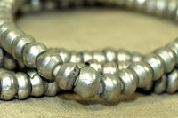 Old Ethiopian Silver Beads 6mm x 4mm