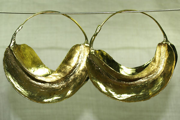 Fulani Brass Earrings, Super Large