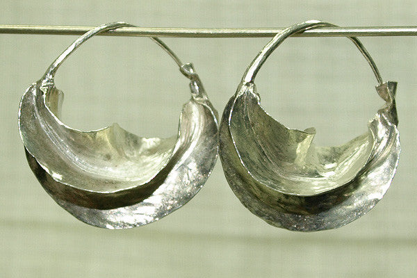 Small Silver Fulani Earrings