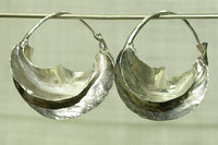 Pair of Tiny Fulani Silver Earrings