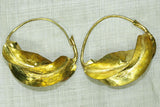 Traditional Fulani Brass Earrings, small rugged
