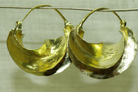 Fulani Brass Earrings, Small