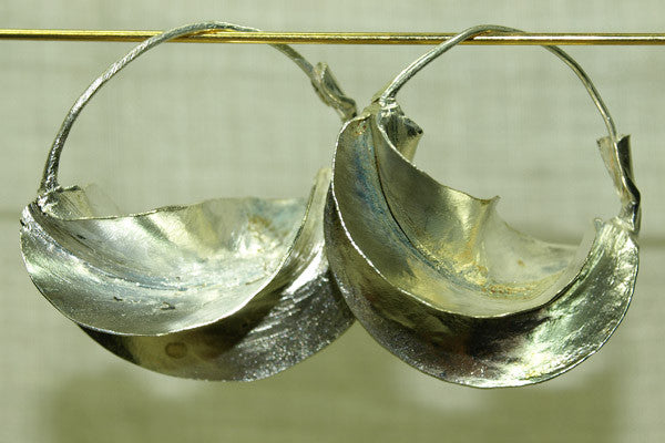 Traditional Silver Fulani Earrings, Small