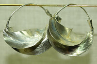 Traditional Silver Color Fulani Earrings, Small