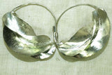 Medium Silver Tone Traditional Fulani Earrings