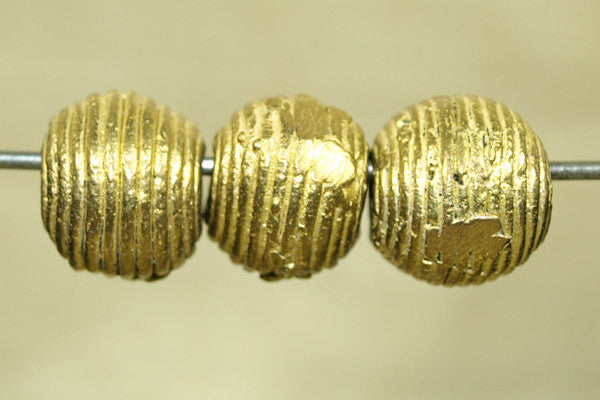 Small Cast Brass Bead from Ghana