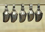 Pack of Five Silver Dangles from India