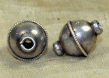 Cool Silver Indian Bead