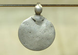 Smooth Old Silver Pendant from India