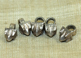 Set of Five Antique Silver Drops from India
