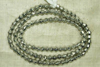 Silver Tone Bicone beads from India