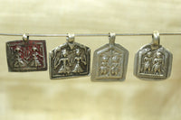 Set of Silver Twin Hindu Deity Amulets