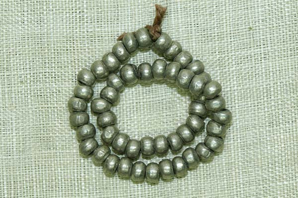 Solid Coin SIlver Beads from India