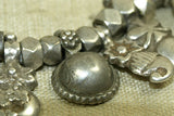 Antique Silver Cornerless Cubes and Drops from India