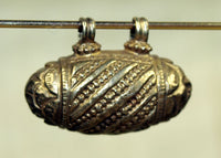 Gold Wash Coin Silver Pendant from India, A