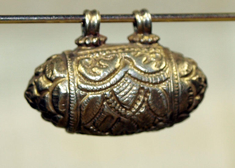Gold Wash Coin Silver Pendant from India, F
