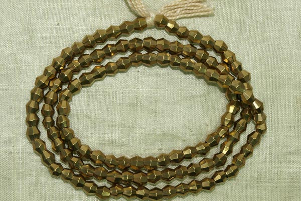 Brass Bicone beads from India
