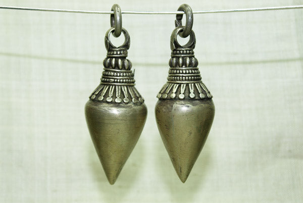 Pair of large silver pendants from india beadparadise pair of large silver pendants from india aloadofball Gallery