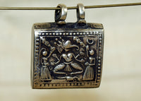 Lord Ganesha Silver Prayer Box from India