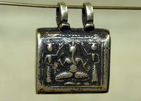 Hindu God Ganesha Silver Prayer Box from India