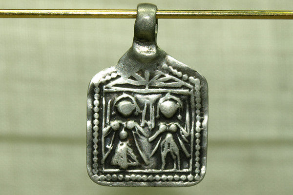 Old God and Goddess Pendant from India