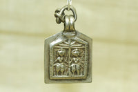 Hindu Twin Deities Pendant from India
