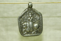Large Antique Silver Goddess Durga Pendant