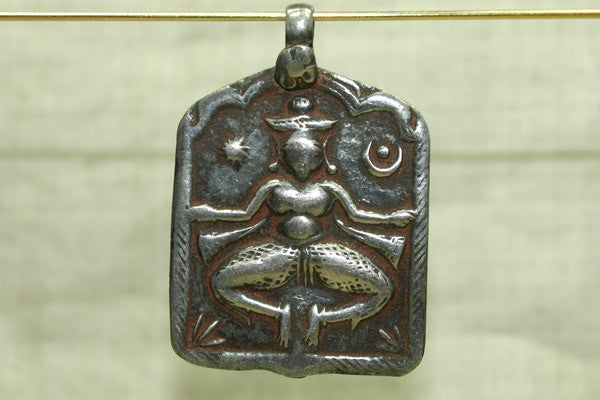 Large Antique Silver Shiva Hindu God pendant