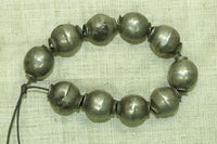Strand of old silver beads from India