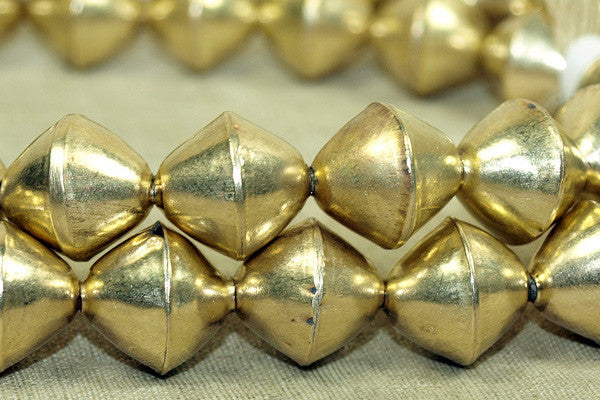 Large 14mm Brass Bicones from India