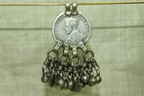 Antique Indian Rupee Coin Pendant
