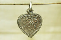 Vintage Silver Hindu Om Amulet from India