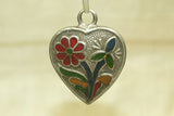 Silver and enamel pendant from India