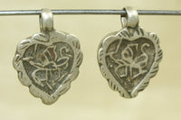 Pair of Small Hindu Deity Hanuman Amulets from India