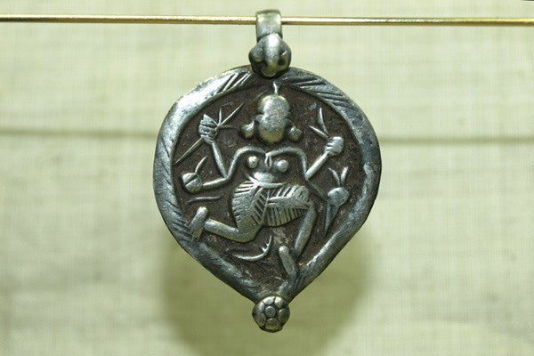 Antique Dancing Shiva Pendant from India
