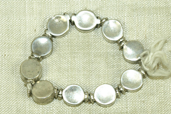 Antique Silver Beads, strand