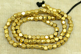 4mm Brass conerless cube Beads from India
