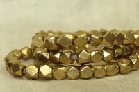 Large 7mm Brass Beads from India; Conerless Cubes