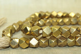 large 9.5mm Brass conerless cube Beads from India