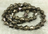 12mm Vintage bicone Brass Beads from Nagaland, India