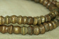 Vintage Irregular Bicone Brass Beads from India